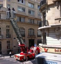Un déménagement avec ... les pompiers !