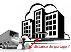Qu'est ce qu'une distance de portage ?