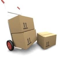 La livraison de cartons par un déménageur